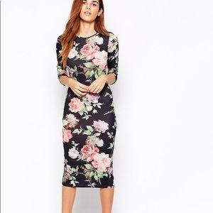 Club L Floral Midi Dress